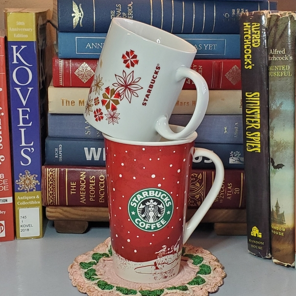 Holiday Starbucks Mugs • Set of Two • Mismatched